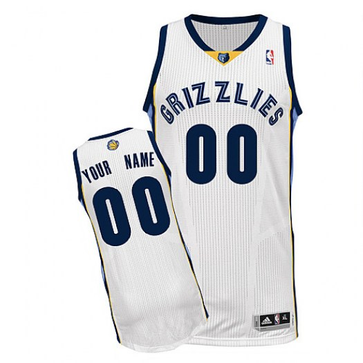 Men's Custom Memphis Grizzlies Adidas Authentic White ized Home Jersey