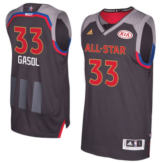 Men's Marc Gasol Memphis Grizzlies Adidas Authentic Charcoal 2017 All Star Jersey