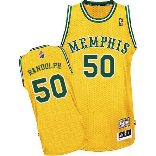 Men's Zach Randolph Memphis Grizzlies Adidas Authentic Gold ABA Hardwood Classic Jersey